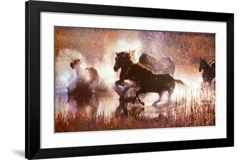 The LX Saddle Horses-David R^ Stoecklein-Framed Art Print