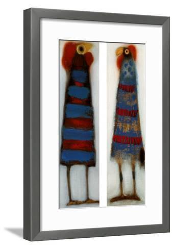 Couple of Odd Birds I-Janet Waring-Framed Art Print