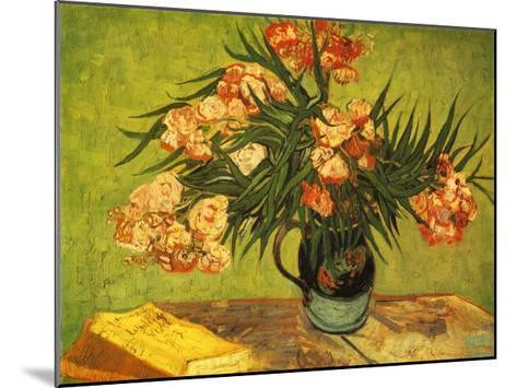 Vase with Oleanders and Books, c.1888-Vincent van Gogh-Mounted Art Print