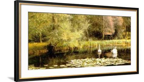 Lily Pond-E. R. Taylor-Framed Art Print