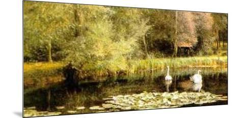 Lily Pond-E. R. Taylor-Mounted Art Print