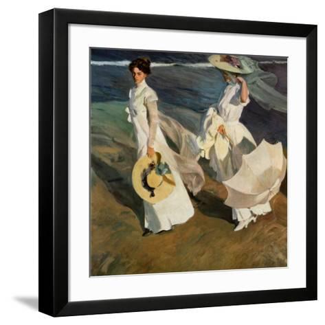 Walk on the Beach-Joaqu?n Sorolla y Bastida-Framed Art Print