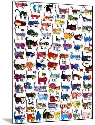 100 Cats and a Mouse-Vittorio-Mounted Art Print