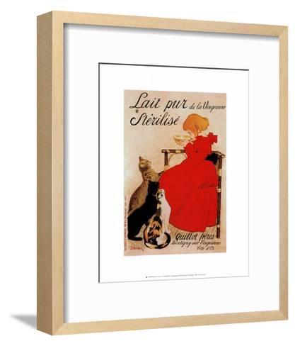 Lait Sterilise-Th?ophile Alexandre Steinlen-Framed Art Print