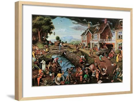 Proverbidioms-T^ E^ Breitenbach-Framed Art Print