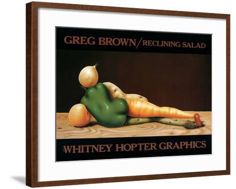 Reclining Salad-Greg Brown-Framed Art Print