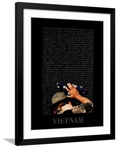 Vietnam Memory Wall-Peter Marlow-Framed Art Print