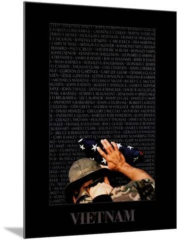 Vietnam Memory Wall-Peter Marlow-Mounted Art Print