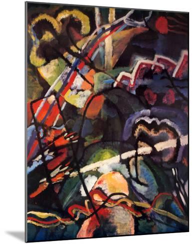 Composition Storm-Wassily Kandinsky-Mounted Art Print