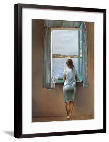 Person at the Window-Salvador Dal?-Framed Art Print