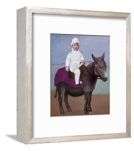 Paulo on a Donkey-Pablo Picasso-Framed Art Print