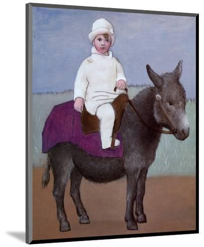 Paulo on a Donkey-Pablo Picasso-Mounted Art Print