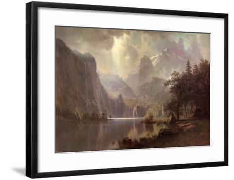 In the Mountains-Albert Bierstadt-Framed Art Print