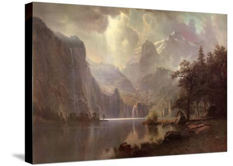 In the Mountains-Albert Bierstadt-Stretched Canvas Print