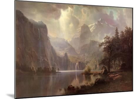 In the Mountains-Albert Bierstadt-Mounted Art Print