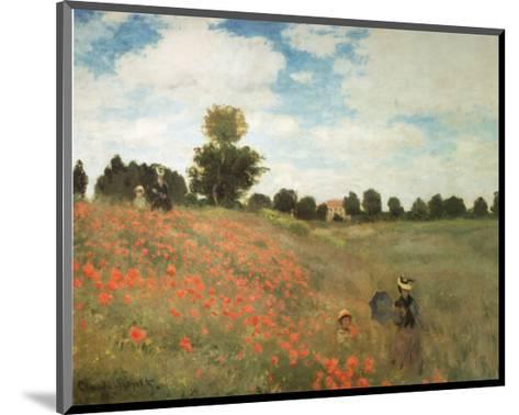Les Coquelicots-Claude Monet-Mounted Art Print