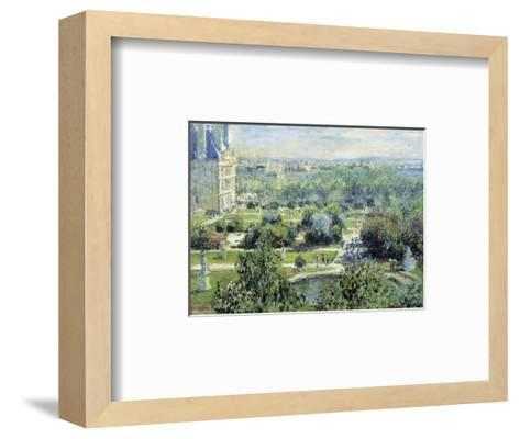 View of the Tuileries Gardens-Claude Monet-Framed Art Print