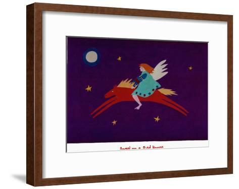 Angel on a Red Horse-Sharon McCullough-Framed Art Print