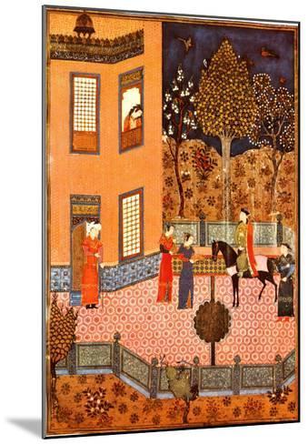 Shahnameh Baysunqur--Mounted Art Print
