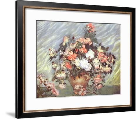 Pink and White Roses, c.1890-Vincent van Gogh-Framed Art Print