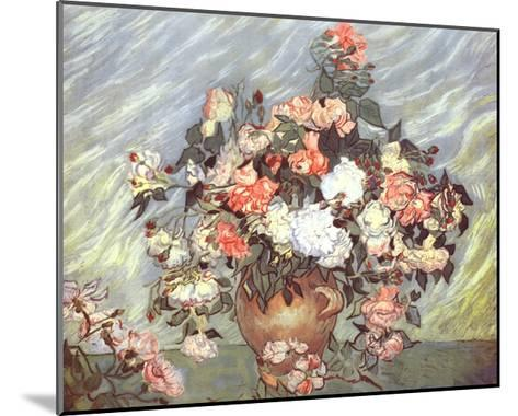 Pink and White Roses, c.1890-Vincent van Gogh-Mounted Art Print