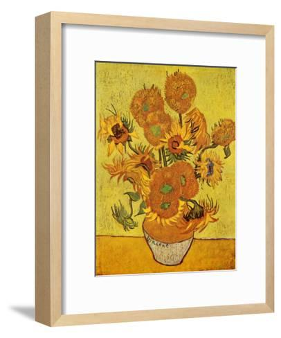 Vase with Twelve Sunflowers, c.1889-Vincent van Gogh-Framed Art Print