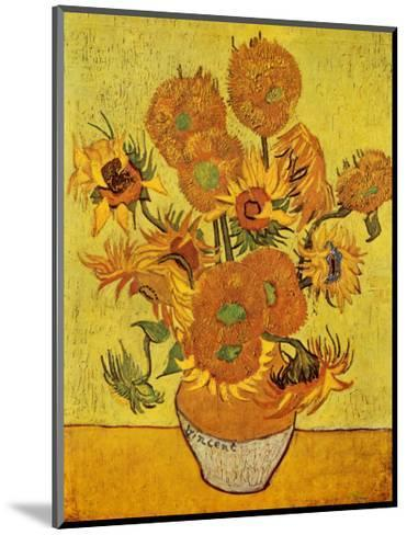 Vase with Twelve Sunflowers, c.1889-Vincent van Gogh-Mounted Art Print
