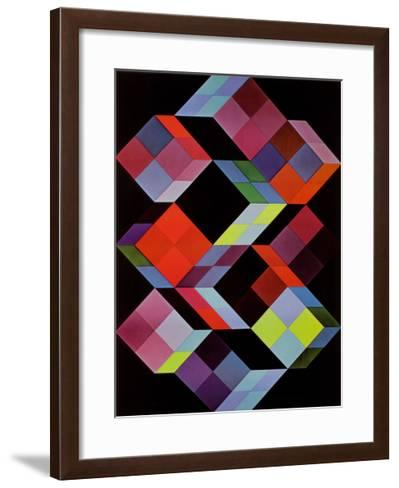 Tridem K-Victor Vasarely-Framed Art Print