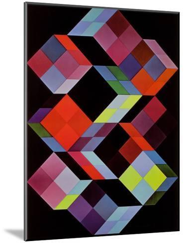 Tridem K-Victor Vasarely-Mounted Art Print