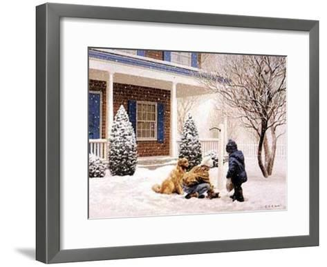 Feathered Friends-Mary G^ Smith-Framed Art Print