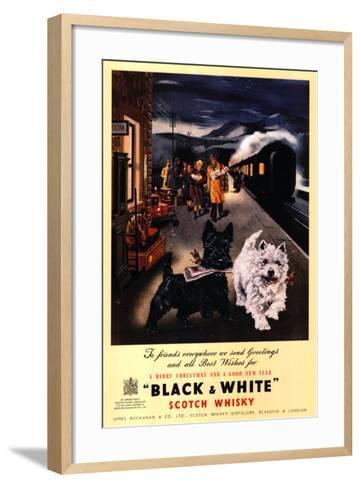 Black and White Scotch--Framed Art Print