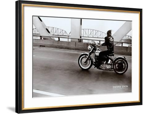 Crossing the Ohio River-Danny Lyon-Framed Art Print
