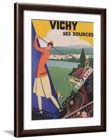 Vichy, Ses Soursec-Roger Broders-Framed Art Print