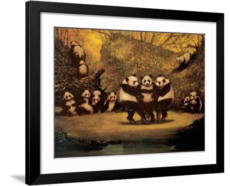 Panda's Dance- Schwedler-Framed Art Print