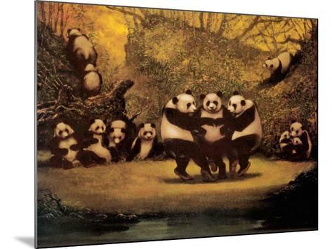 Panda's Dance- Schwedler-Mounted Art Print