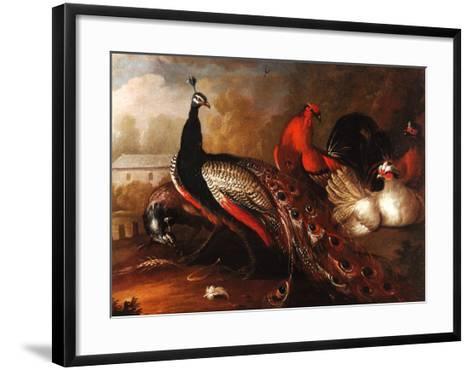 Peacock and Pheasant-Marmaduke Cradock-Framed Art Print