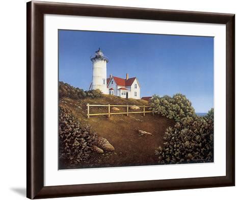 Wood's Hole Lighthouse-Daniel Pollera-Framed Art Print
