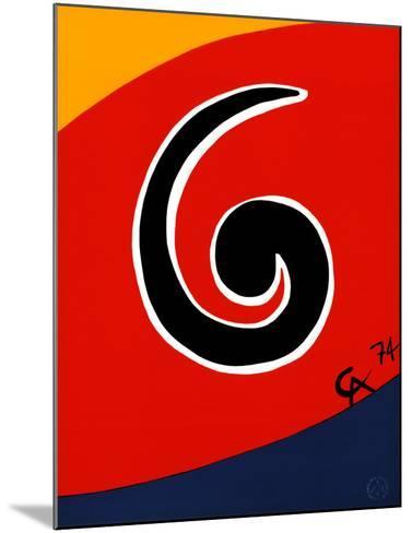 Sky Swirl-Alexander Calder-Mounted Art Print