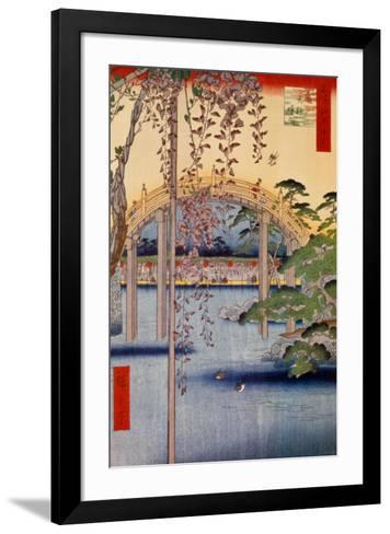 Inside Kameido-Tenjin Shrine-Ando Hiroshige-Framed Art Print