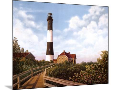 West Channel Lighthouse-Daniel Pollera-Mounted Art Print