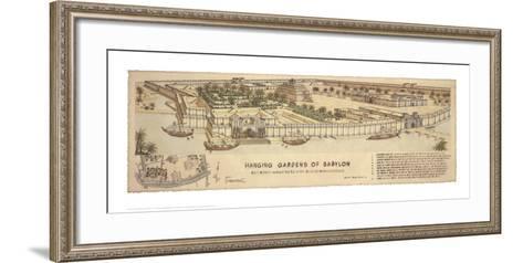 Hanging Gardens of Babylon-Roger Vilar-Framed Art Print