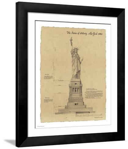 Statue of Liberty New York-Yves Poinsot-Framed Art Print