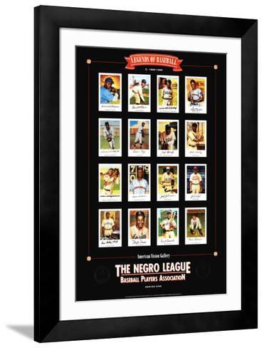 Negro League Baseball Legends-Lucinda Lewis-Framed Art Print