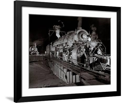 Shaffer's Crossing-O^ Winston Link-Framed Art Print