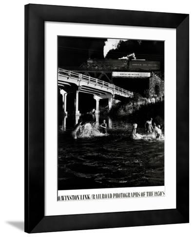 Hawksburg Creek Swimming Hole-O^ Winston Link-Framed Art Print