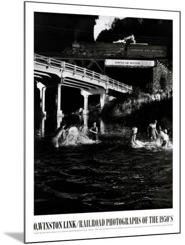 Hawksburg Creek Swimming Hole-O^ Winston Link-Mounted Art Print
