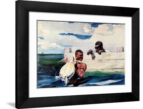Turtle Pound-Winslow Homer-Framed Art Print