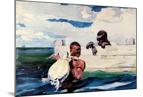 Turtle Pound-Winslow Homer-Mounted Art Print