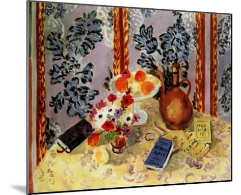 Still Life, Histoire Juives-Henri Matisse-Mounted Art Print