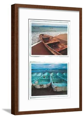 Beached Boats-Tom Haseltine-Framed Art Print
